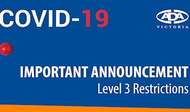 COVID-19 update - Level 3 restrictions in place for dental practices